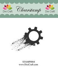 Dixi Crafts Clearstamp Stamp GEAR DCSTAMP0064