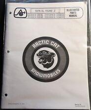 1975 Arctic Cat Snowmobile El Tigre Z Parts Manual Copy
