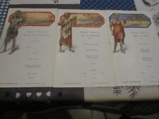 Paquebot Albertville Congo Belge - menus 19 décembre 1932 jour complet !