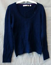 Girls Deane & White Dark Blue 100% Merino Wool Thin Knit Jumper Age 13-14 Years
