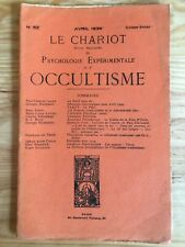 Le Chariot n°52 / Avril 1934 revue Occultisme Astrologie Philosophie