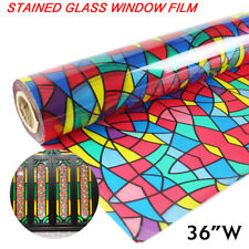 Stained Glass Decorative Window Film Sticker PVC Home Church Foil Self Adhesive