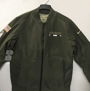 Dallas Cowboys NFL Salute To Service Sideline Bomber Reversible Jacket, XX-Large