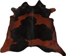 Premium Cowhide Bullhide Braun Black Colored 205 x 190 CM