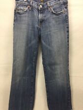 7 for All Mankind Women's Jeans Sz 27 Crop Med Wash Cut # 701790 E051