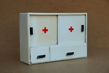 Antique Primitive Wooden Medical Box First Aid Chest Cupboard Rustic 1960's.