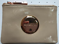 Mimco Pancake beige small pouch clutch wallet patent leather Authentic new