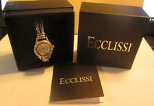 Like New Ecclissi Sterling Silver Double Wheat Chain Watch HEAVY! 32775