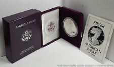 1990-S Silver Eagle American $1 Dollar Coin 999 W Original Box Papers USA 1ozt