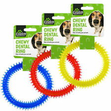 Pet Dog Dental Chewy Ring Toy Provide Healthy Teeth & Gums Pet Health UK SALE