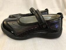 NWOB Stride Rite Girls Blaire Dress Casual Shoes,Pewter/Black, 9.5 M