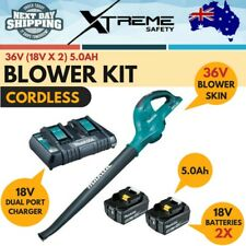 New Makita 18V x 2 5.0Ah XPT 36V Cordless Leaf Blower Kit with Charger & Battery