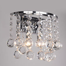 Senza Crystal Double Wall Light - Mirrored Chrome Wall Bracket
