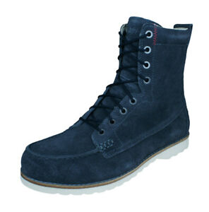 Timberland Abington Guide Mens Suede Leather Moccasin Boots Lace-Up Grey