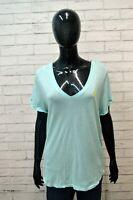 Polo Donna RALPH LAUREN Taglia XL Maglia Manica Corta shirt Jersey Celeste Woman