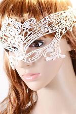 BN Gothic White Venetian Masquerade Mask Eye Halloween Party Lace Fancy Dress UK