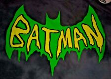 DC Comics BATMAN Vintage Style Logo Gray Acid Wash Men's Shirt S Small NEW NWT