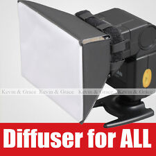 Universal Foldable Portable Flash Diffuser SoftBox for all Flash speedlight