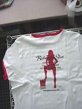 REDHEADED SLUT BAR Cocktail Women's White Red Ringer Baby Doll Tee Shirt Barwear
