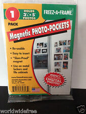 6-Pack of Freez-A-Frame 3-1/2x5 Magnetic Photo Pockets - Refrigerator Magnet