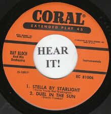 Ray Bloch JAZZ EP (Coral 81006) Hollywood Themes M-