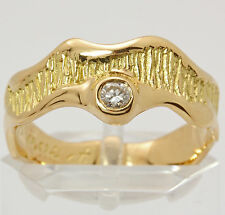 ♦ CHRIST Brillant Ring in aus 750 Gelb Gold mit Brilliant Diamant Brillantring ♦
