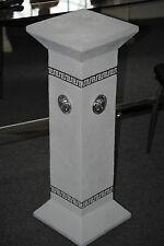 Weiss Silber Säule Säulen Blumensäule Medusa Modern Kunstharz Podest  1043 NEW