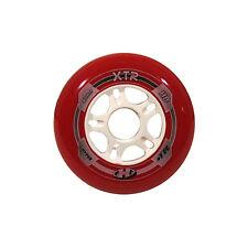 HYPER Inliner Rollen XTR Wheel für Fitness Skates 90 mm 85 A rot/weiß