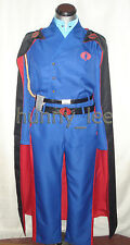 Cobra Commander Sideshow Premium Format Cosplay Costume + Black Cape +Cobra Pins