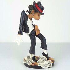 "Michael Jackson Moonwalk Dancer Caricature Glossy Figurine Miniature 8""H New"