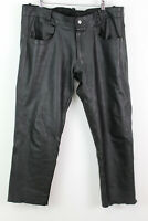 ROLEFF Black Leather Trousers size 54