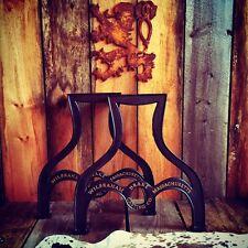 2 Massive Factory Farm Table Leg Base Cast Iron Industrial Antique FREE SHIPPING
