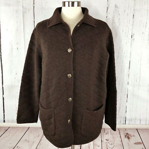 Vintage RALPH LAUREN 100% Lamb wool Jacket size XL UK 16-18 Cardigan Pony Button