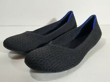 Rothy's Black Honeycomb Round Toe Flats Size 8 NEW w/Replacement Box Washable