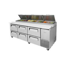 Turbo Air Tpr 93sd D6 N 93 Three Section Refrigerated Pizza Prep Table 310