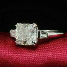 950 Platinum  1 CT Cushion cut Diamond Engagement Wedding Ring