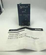 Weed Fiber Optics 6A01 Series EOTec Power Supply Module 115V PLC 7880-6538-530