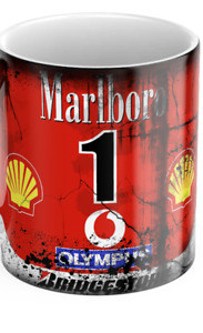 Vintage / Retro Michael Schumacher Ferrari Marlboro Mug / Formula One / F1