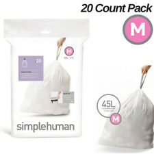 Simplehuman Code M Trash Bags 20 Extra Strong Custom Fit Liners 45 L Garbage Can
