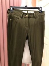 Maison Jules camo green cotton/spandex everyday stretch skinny leg pants,size 2