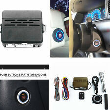 Car Auto Alarm System Induction Engine Start Push Button Remote Kit Type - D