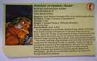 VINTAGE! 1989 Playmates Teenage Mutant Ninja Turtles Filecard-General Traag
