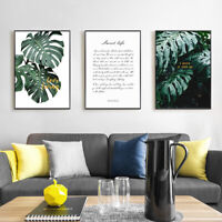 Leaf Botanical Motivational Quotes Canvas Poster Wall Art Print Nordic Decor