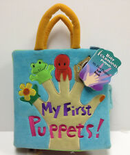 Folkmanis MY FIRST PUPPETS Soft Activity Book Toy 3002 RARE NWT