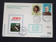 Jersey 40th Anniv 1st BEA Airway Letter Service 15/05/73