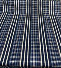 P Kaufmann Raja Plaid Navy Blue Fabric by the yard