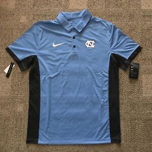 Nike Mens Short Sleeve Polo Shirt Blue Size Large L North Carolina Tar Heels