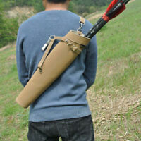 Shoulder-back Arrow Quiver Waist Archery Pure Leather Arrow Bag case