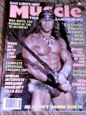 MUSCLE TRAINING ILLUSTRATED bodybuilding mag/Arnold Schwarzenegger , Aug 1984