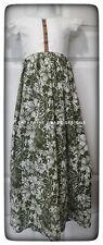 Girls Maxi Dress Green Hibiscus handmade